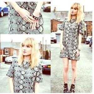 NWT Zara Woman reptile print dress